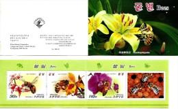 North Korea - 2013 - Bees - Mint Stamp Booklet - Korea, North