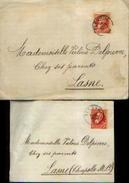 Lot De 2 Pli à L'effigie De Léopold II Type « Grosse Barbe » (10 C ) - Oblitération De FLEURUS Vers LASNE 1906 & 1