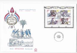 """Enveloppe FDC , Premier Jour  1991 Bloc Feuillet """"Bicentenaire De La Révolutiont"""" - FDC"""