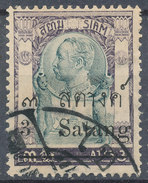 Stamp THAILAND,SIAM 1909 3s On 3a Used Lot#95 - Siam