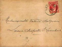 Pli à L'effigie De Léopold II Type « Grosse Barbe »(10 C ) - Oblitération De LA HULPE Vers LASNE (1908)