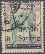 Stamp THAILAND,SIAM 1909 3s On 3a Used Lot#104 - Siam