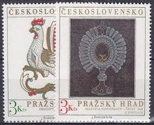 ** Tchécoslovaquie 1974 Mi 2201-2 (Yv 2046-7), (MNH)