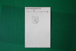 """ANTICO TIMBRO SIGILLO """" GIUNCUGNANO RAFFAELLI DELLA GARFAGNANA """" 1879 - Historische Dokumente"""