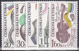 ** Tchécoslovaquie 1974 Mi 2203-7 (Yv 2048-52), (MNH)