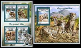 NIGER 2017 - Big Cats, M/S + S/S. Official Issue