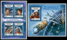NIGER 2017 - Valentina Tereshkova. M/S + S/S. Official Issue