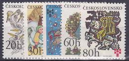 ** Tchécoslovaquie 1975 Mi 2267-71 (Yv 2112-6), (MNH)