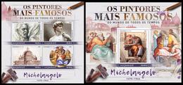 MOZAMBIQUE 2016 - Michelangelo. M/S + S/S. Official Issue - Art