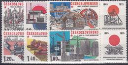 ** Tchécoslovaquie 1975 Mi 2285-90 Zf (Yv 2128-33 Avec Vignettes), (MNH)