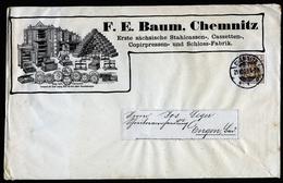 A4494) DR Dekorativer Drucksache-Brief Von Chemnitz 21.10.03