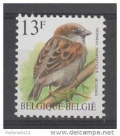 TIMBRE NEUF DE BELGIQUE - OISEAU DE BUZIN : MOINEAU DOMESTIQUE N° Y&T 2533