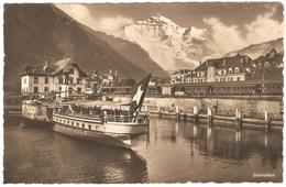 Interlaken - Carte Photo - Kunstverlag E. Goetz - état Neuf - Schiff / Bateau - BE Berne