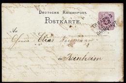 A4495) DR Ganzsachenkarte Mit Bahnpoststempel ERBACH I.O. - DARMSTADT