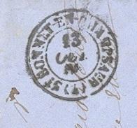 HAUTES ALPES 04 SAINT BONNET EN CHAMPSAUR LAC TAD Type 15 Du 23/10/1866  GC 3529 Sur N° 22 TB - Marcophilie (Lettres)