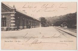 Cpa Ham Sur Heure   Gare  1903 - Ham-sur-Heure-Nalinnes