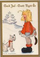 Mini AK - Artist: BRITA  NYSTRÖM - Zweden / Sweden - Small Card - Miniature - Kerst / Weihnachten / Noël / Christmas - Altri