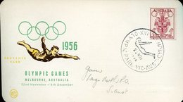 18897 Australia, Special Postmark For The Olympic Games Melbourne 1956, Fina Diving Wasserspringen Plongeon