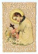 CHROMO  Image Religieuse Avec Dentelle - Imágenes Religiosas