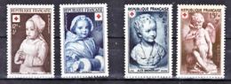 France  876 877 914 915 Croix Rouge Statues 1950 1951 Neuf ** TB MNH  Sin Charnela Cote 12.5