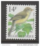 TIMBRE NEUF DE BELGIQUE - OISEAU DE BUZIN : POUILLOT FITIS N° Y&T 2623