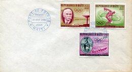 18904 Haiti,  Fdc  Olympiade Roma 1960,  Pierre De Coubertin,