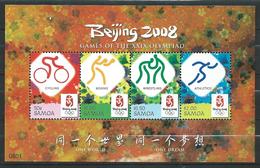 Samoa 2008 Olympic Games - Beijing, China.cycling,boxing,wrestling,athletics.S/S.MNH - Samoa