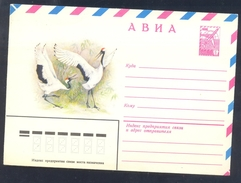 Russia CCCP 1979 Postal Stationery Cover: Birds Oiseaux Vogel Uccelli; Storch Stork