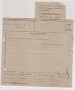 Netherlands Indies 1936 Telegram With Sealed Stamp Telegraaf. Sent From Batavia To Buitenzorg