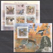 C172 2009 GUINE-BISSAU PETS DOGS & BIRDS CAES DE CACA E AVES KB+BL MNH