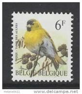 TIMBRE NEUF DE BELGIQUE - OISEAU DE BUZIN : TARIN DES AULNES N° Y&T 2664