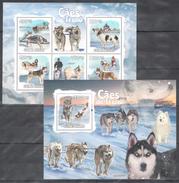 C173 2009 T GUINE-BISSAU DOGS HUSKY ALASKA CAES DE TRENO 1KB+1BL MNH