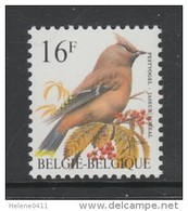 TIMBRE NEUF DE BELGIQUE - OISEAU DE BUZIN : JASEUR BOREAL N° Y&T 2534