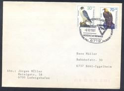 Germany Deutshcland Berlin 1991 Cover: Birds Oiseaux Vogel; Adler Eagle Aquila (Aquila Chrysaetos) Falcon Falke Falco Pe - Adler & Greifvögel