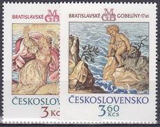 ** Tchécoslovaquie 1976 Mi 2319-20 (Yv 2163-4), (MNH)