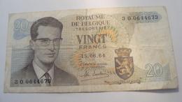 BILLET BELGIQUE 20 FRANCS 1964 - Autres