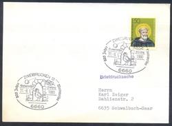Germany Deutschland 1980 Cover: Birds Oiseaux Vogel Uccelli; 800 Jahre Wattweiler Architecture Religion Hl. Benedikt