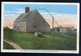 Cpa USA Nantucket , The Jethro Coffin House Built 1686     GX43 - Nantucket