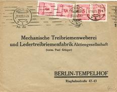 Dt. Reich 317 A Als MEF Portogenau Auf Firmen- Fernbrief V. Breslau 1923 N. Berlin