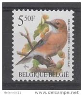 TIMBRE NEUF DE BELGIQUE - OISEAU DE BUZIN : GEAI DES CHENES N° Y&T 2526