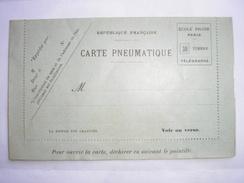 FRANCE -  Carte Pneumatique De L'Ecole Pigier De Paris - NEUVE  - RARE