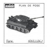 SOLIDO  PLAN DE POSE  TIGRE - Autres Collections