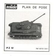 SOLIDO  PLAN DE POSE  PZ IV - Autres Collections