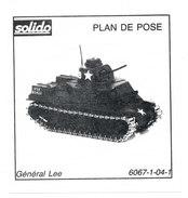 SOLIDO  PLAN DE POSE  GENERAL LEE - Autres Collections