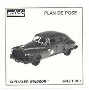 SOLIDO  PLAN DE POSE  CHRYSLER WINDSOR - Autres Collections