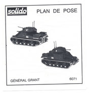 SOLIDO  PLAN DE POSE  GENERAL GRANT - Autres Collections