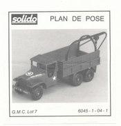 SOLIDO  PLAN DE POSE  GMC  LOT 7 - Autres Collections