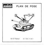 SOLIDO  PLAN DE POSE  PATTON - Autres Collections