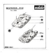 SOLIDO  PLAN DE POSE  DESTROYER M 10 - Autres Collections