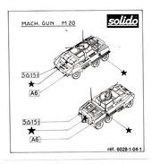 SOLIDO  PLAN DE POSE  M 20 - Autres Collections